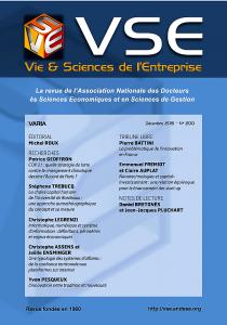 Revue VSE Vie et science de l'entrepriseN°200